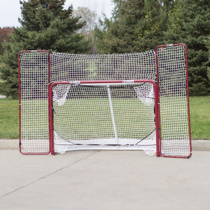 EZ Goal Steel Folding Hockey Goal with Backstop & Targets - 67008