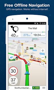 GPS travel navigation app for  abroad. Navmii GPS World (Navfree)