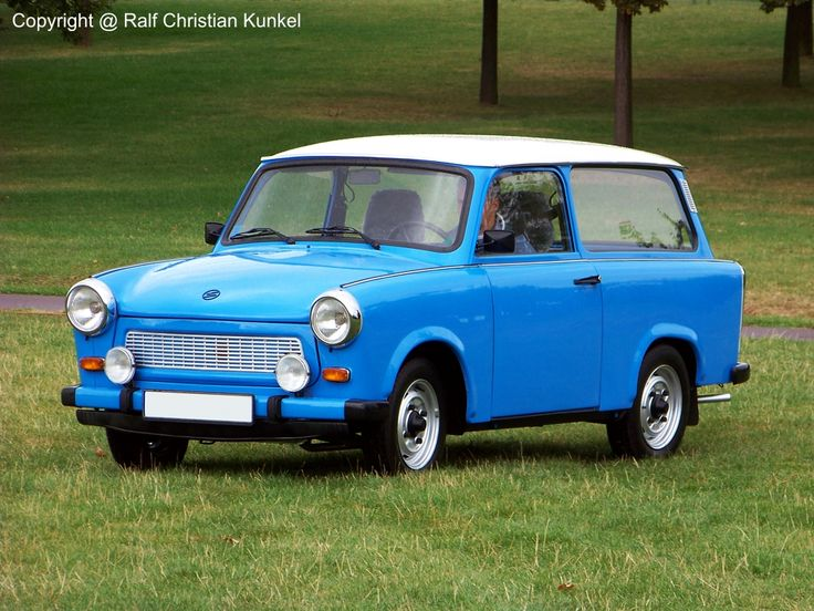 Trabant : This is the car that gave Communism a bad name. Powered by a two-stroke pollution generator that maxed out at an ear-splitting 18 hp, the Trabant was a hollow lie of a car constructed of recycled worthlessness (actually, the body was made of a fiberglass-like Duroplast, reinforced with recycled fibers like cotton and wood)