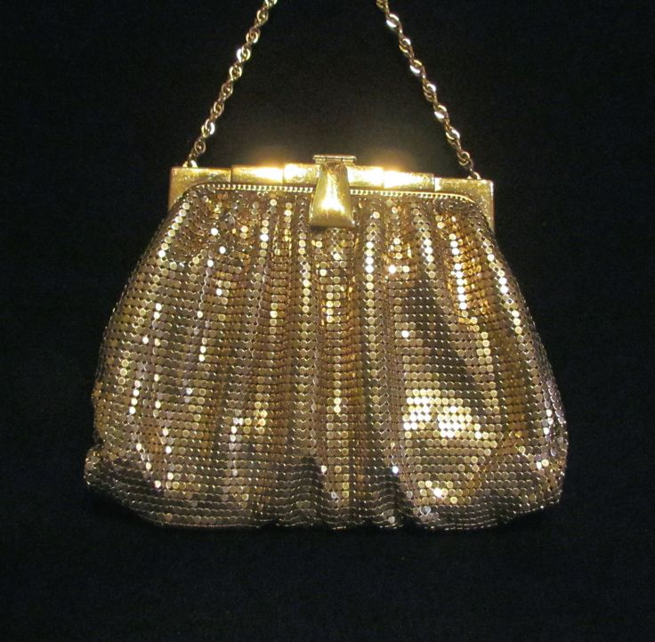 Vintage gold acrylic art deco purse