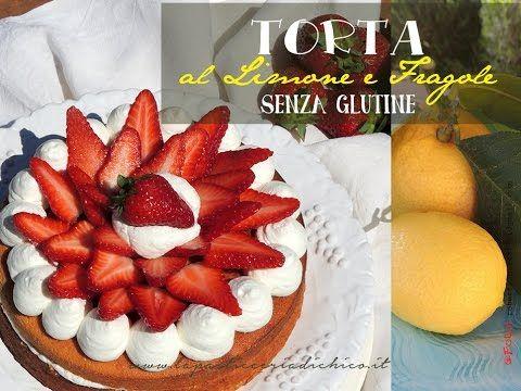 Torta al limone e fragole senza glutine Bella, colorata e dal gusto unico eccovi la#tortaallimoneefragole #fragole #tortaconfragole #ricetta