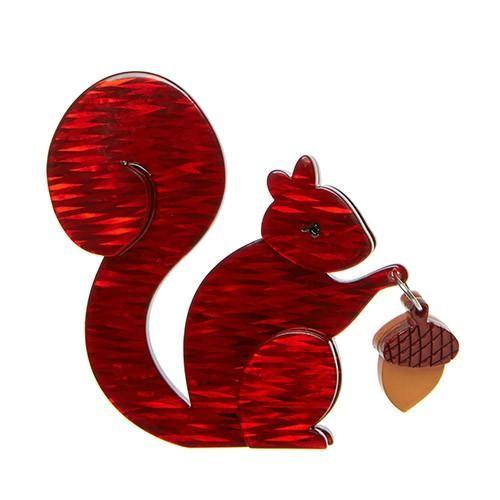 Erstwilder - The Satisfied Squirrel Brooch - 1