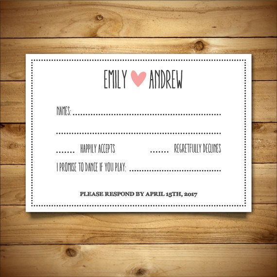 30 best Wedding RSVP Templates images on Pinterest Wedding rsvp - postcard template word