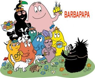 Barbapapas: The Dad is the pink one.