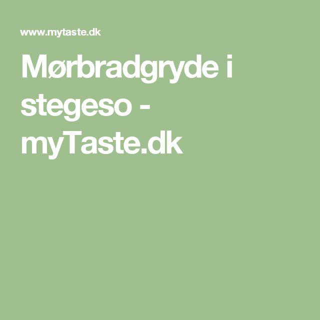 Mørbradgryde i stegeso - myTaste.dk