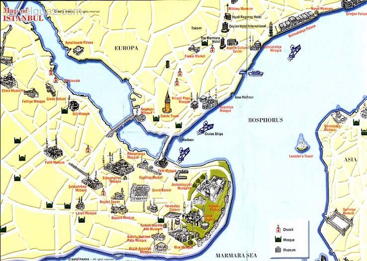 tourist map of istanbul - Google Search