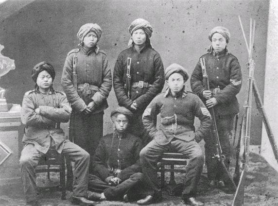 The Ever Victorious Army was the Qing army that helped put down the Taiping and Nein Rebellions and It was the first Chinese army which was trained in European tactics. Description from chinahistoryforum.com. I searched for this on bing.com/images