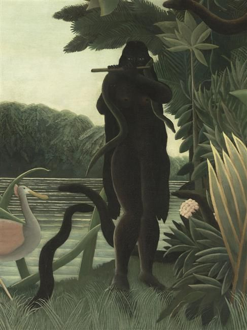 La charmeuse de serpents, Henri Rousseau, 1907. Post-Impressionist. Ridiculed during his life, he came to be recognized as a self-taught genius whose works are of high artistic quality
