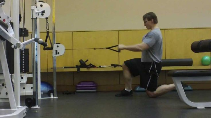 Half Kneeling Single Arm Row: Take a half kneeling stance and row to the open side. Make sure to keep the chest up, shoulders packed and torso tight. www.roypumphrey.com