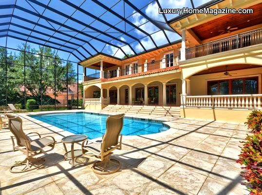 Florida Backyard with Pool