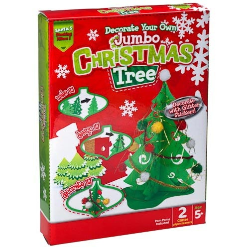 Decorate your own jumbo christmas tree poundland