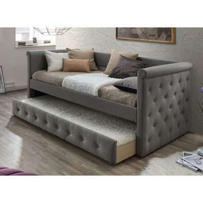 Wholesale Interiors Baxton Studio Marea Daybed with Trundle Color: Light Gray