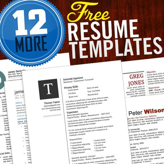 12 more free resume templates - Free Help With Resume