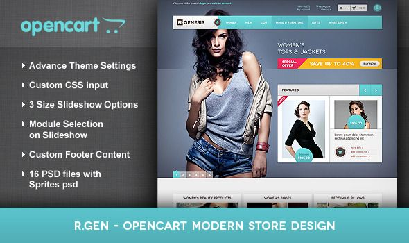 eCommerce - R.Gen - OpenCart Modern Store Design | ThemeForest