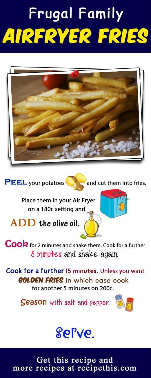 How To Make The Best Ever Air Fryer Fries via @recipethis