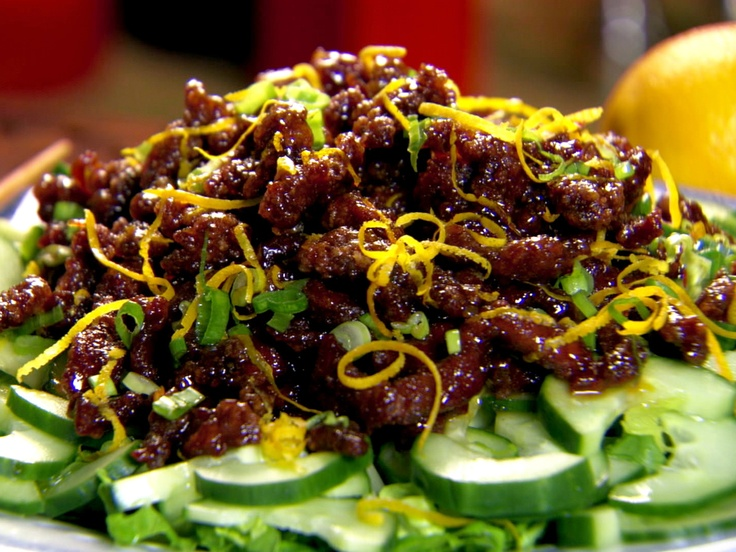 Yang-Yang Crispy Beef from CookingChannelTV.com: Yang Yang Crispy, Beef Recipes, Asian Food, Orange Zest, Orange Sauces, Dinners, Yangyang, Ching H Huang, Crispy Beef