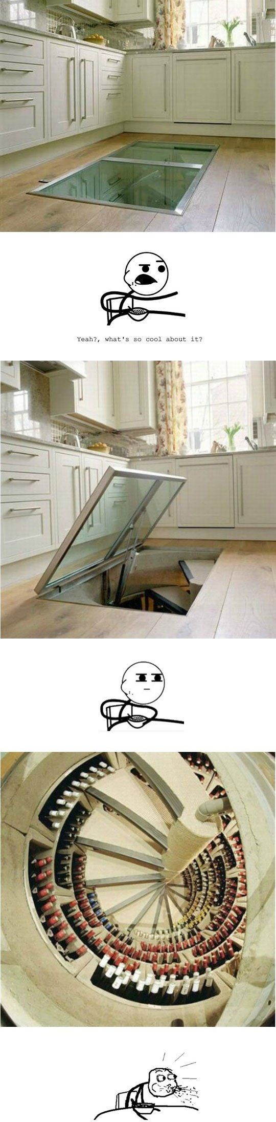I'd hide here everyday, all day lol