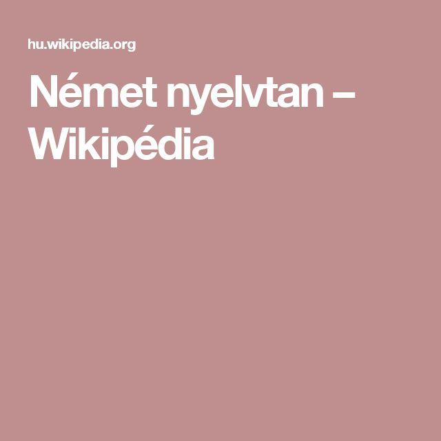 Német nyelvtan – Wikipédia