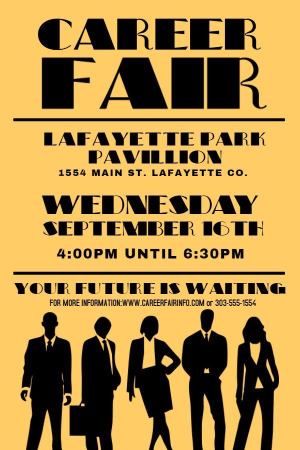Vintage career fair flyer design template. Click to customize.