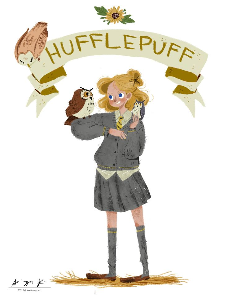 """WE COME FORM DIFFERENT HOUSES""  Hufflepuff  ""After I posted the pic of slytherin girl (here's the link if you don't know), I decided to draw other 3 houses' students to..."