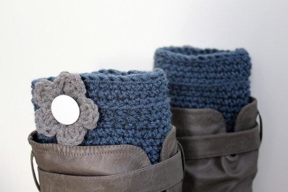 Flower Boot Cuffs