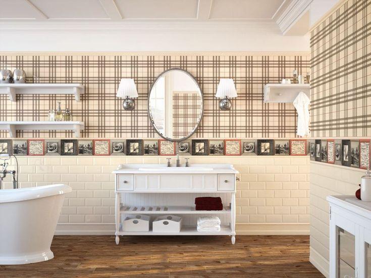 fayette ape ceramica, łazienka w stylu retro