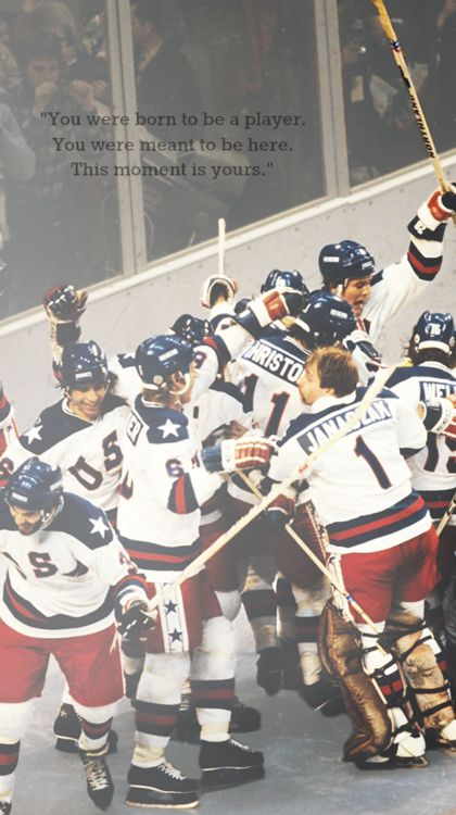 Perhaps the most well known hockey moment in United States history. This is a picture of the 1980 U.S. Olympic Men's Ice Hockey team celebrating their victory over the Soviet Union, considered to be the best team in the world. This was a major upset and their elation is evident