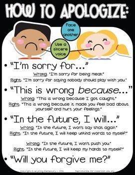 """Promote empathy and apology of action with this """"How to Apologize/Say Sorry"""" poster packet to support character education in your classroom. Improve classroom management, teach your students to use positive language, and build a safe and nurturing classroom environment. Includes 2 versions & parent letter."""