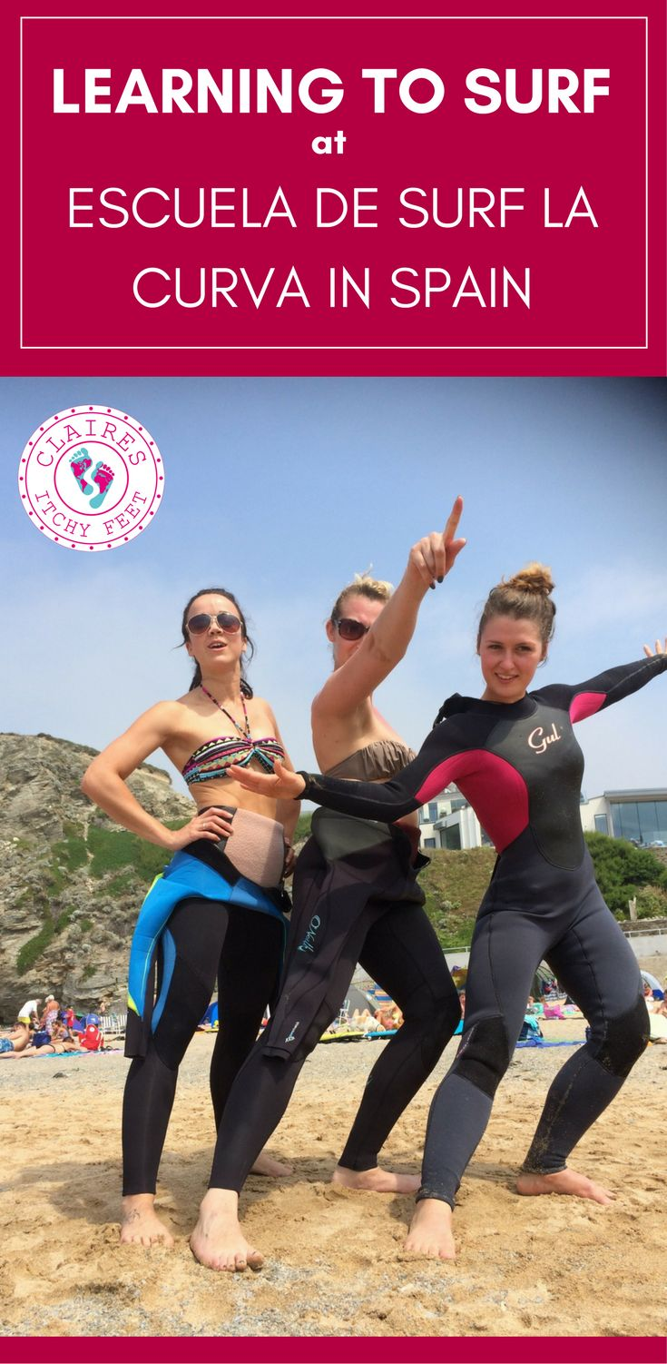 Thinking of taking a surf holiday? When searching for a place to learn to surf I found a website with information about international surf camps and quickly decided Spain sounded perfect. Read on to find out about my experience learning to Surf at Escuela de Surf La Curva in Spain.