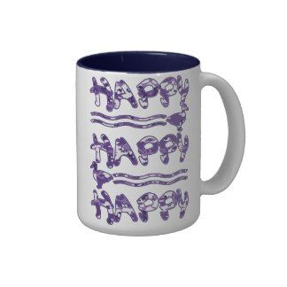 Happy Happy Happy Purple Camouflage Ducks Cup Coffee Mug