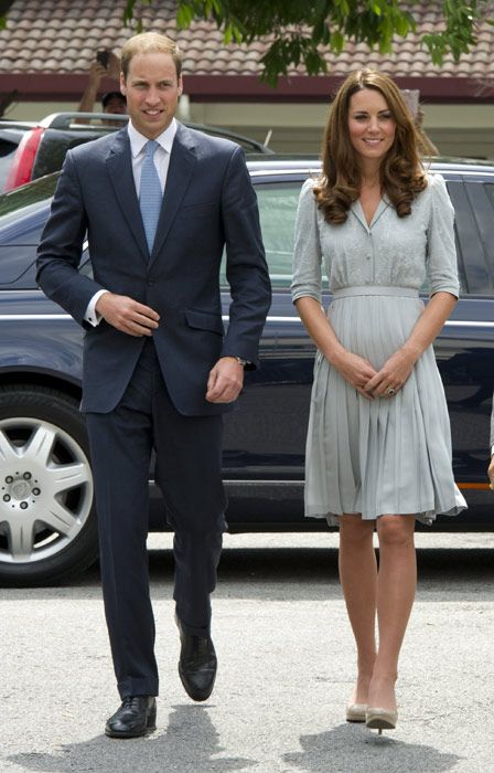 Pregnant Kate Middleton and her husband Prince William have been spotted in Arosa, Switzerland, where they are attending the wedding of their friends Laura Bechtolsheimer, who won a gold medal in dressage at the London 2012 Olympics, and Mark Tomlinson, who plays polo with both Prince William and Harry.