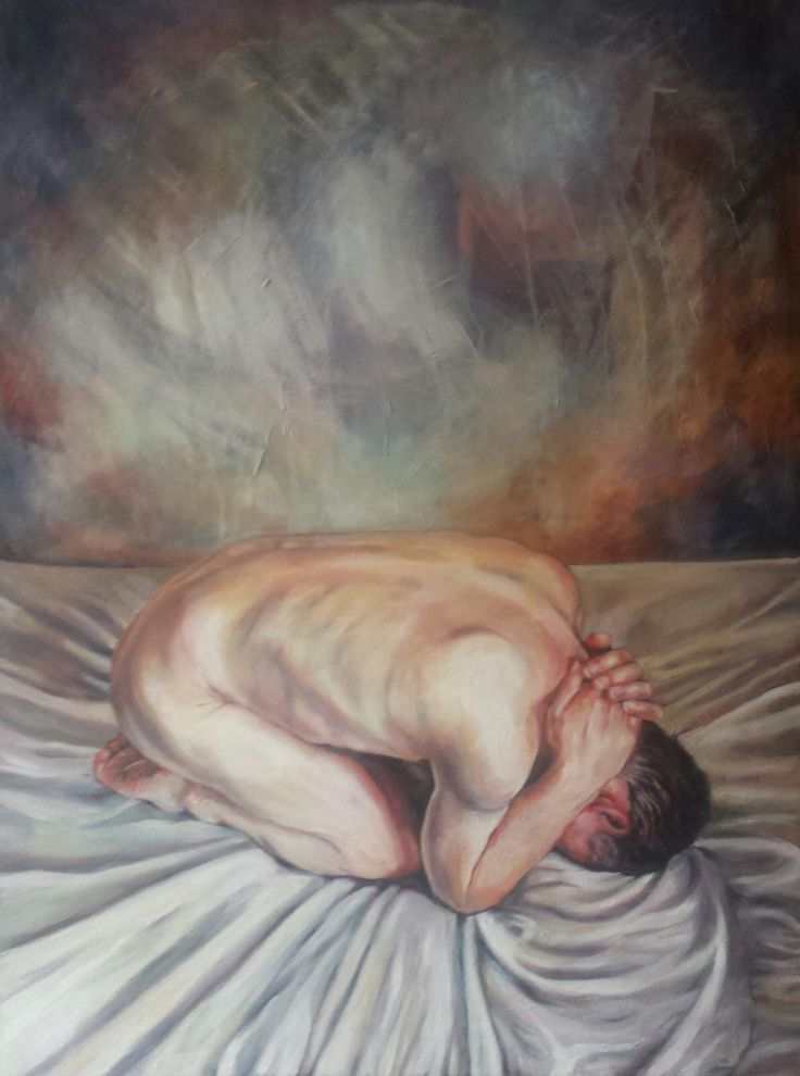 Depression - oil on canvas painted by Kristin Rawcliffe