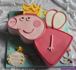 2012-09-23 Peppa Pig Birthday Cake