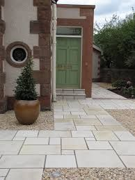 random size paving slabs and pebbles in garden - Google Search