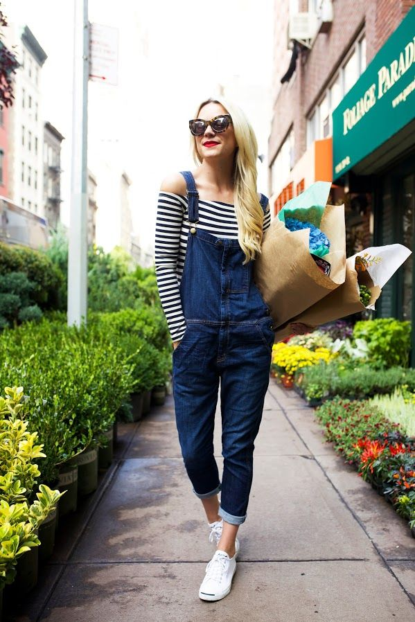 I already have this vision. wearing overall, striped long shirt. the problem is... i couldn't find any denim overall like this