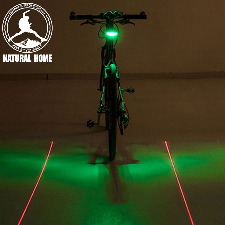 NaturalHome LED Bike Lights Laser Beam Bicycle Accessories Cycling Tail Rear 2 Mode Light Safety Warning Lamp Led