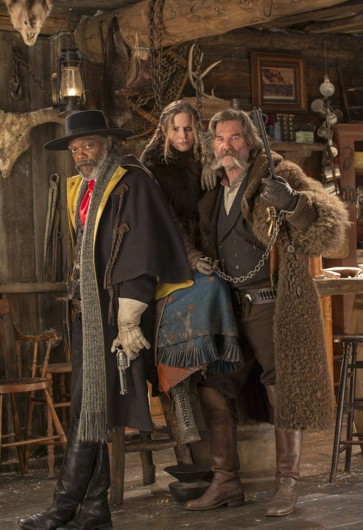 The Hateful Eight (2015) with Samuel L. Jackson, Jennifer Jason Leigh, Kurt Russell