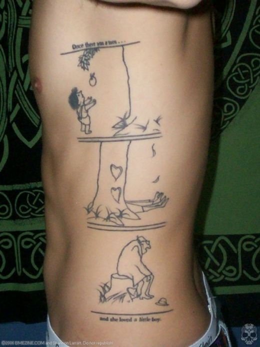 "Tattoo of the Giving Tree book   ""The Giving Tree"" by Shel Silverstein"