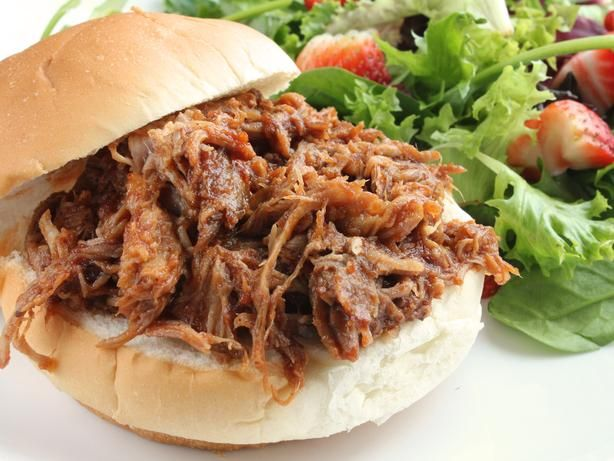 Pulled Pork (Crock Pot).  Easy and delicious.  This is my go to pulled pork recipe!  After pouring 1 cup of ginger ale, I will cover the top of the roast with bbq sauce next time (via http://notquitemomoftheyear.com/slow-cooker-pulled-pork/)