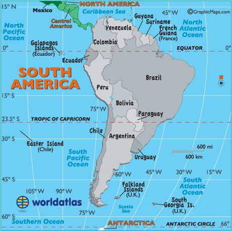 13 best maps images on pinterest world maps maps and places to from worldatlas south america map gumiabroncs Image collections