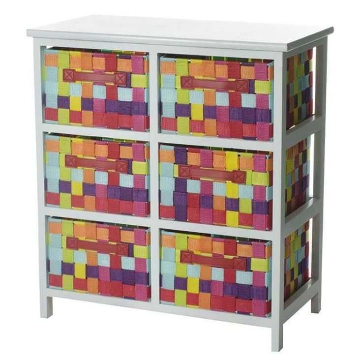 Cajonera 6 cajones multicolor madera 3050x55x61cm 6312
