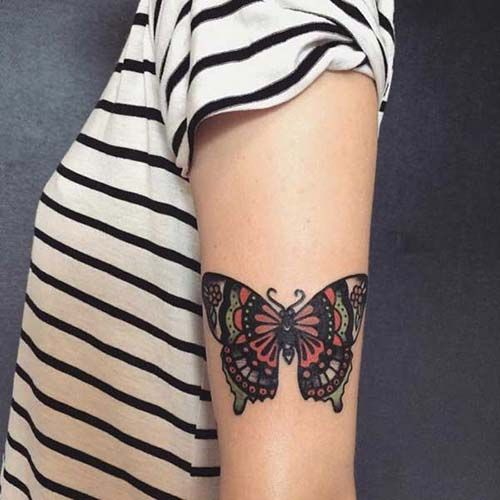Best 25 woman arm tattoos ideas on pinterest for Butterfly tattoo arm designs