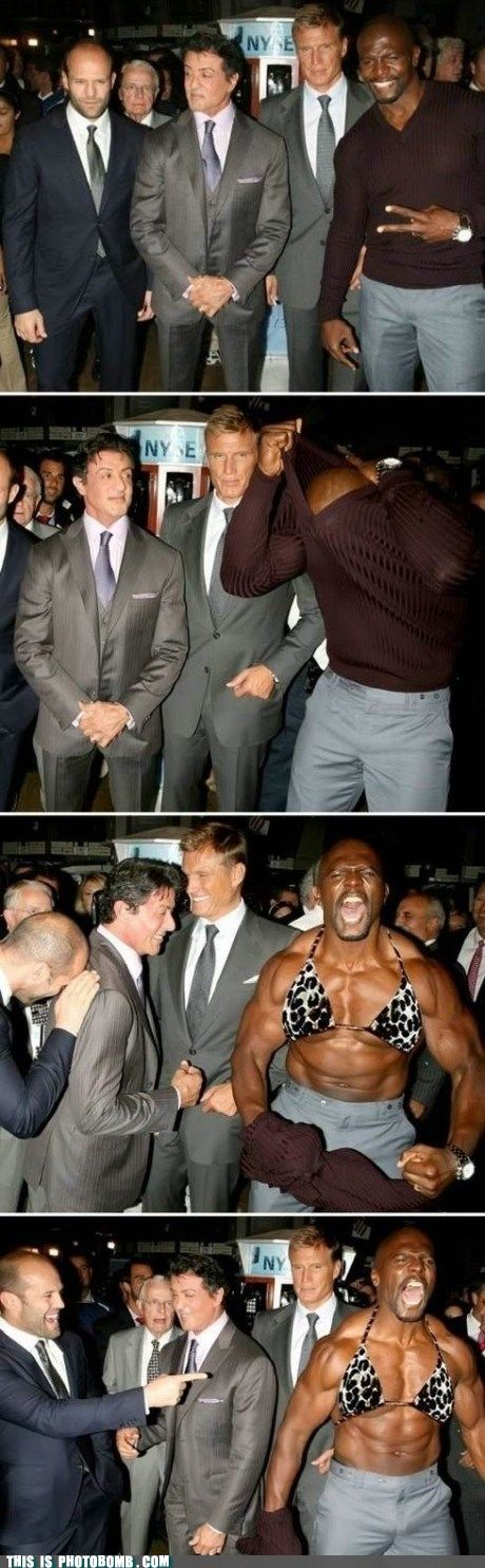 Terry Crews is too funny!!! I would Jason in this picture.