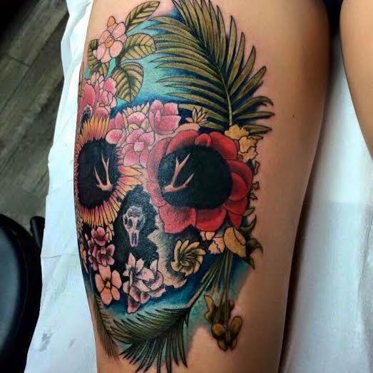 ... Tropical Tattoo on Pinterest   Beach Tattoos Plumeria Tattoo and