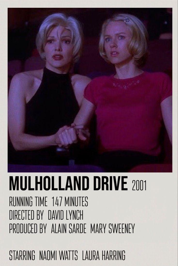 Mulholland Drive Polaroid Movie Poster Iconic Movie Posters Mulholland Drive Iconic Movies