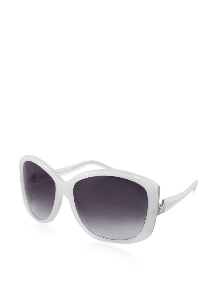 Swarovski Women's SK0014 Sunglasses, White. Shipment Includes: Case, Cleaning Towel, Documentation. Frame style: Rectangle. Frame color: White. Frame width: 145. Bridge width: 16.