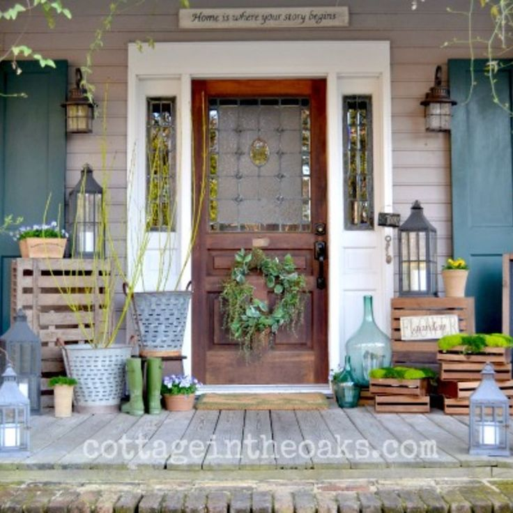 Decorating Ideas For A Small Front Porch Porches Ideas: 46 Best First Impressions/ Door Decorations Images On