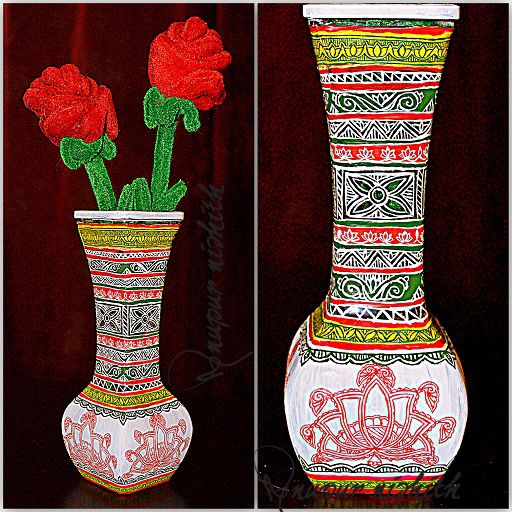 How To Glass Paint A Vase