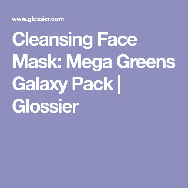 Cleansing Face Mask: Mega Greens Galaxy Pack | Glossier