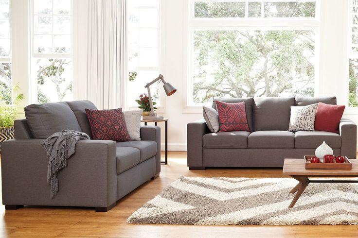Joseph 2 Piece Fabric Lounge Suite